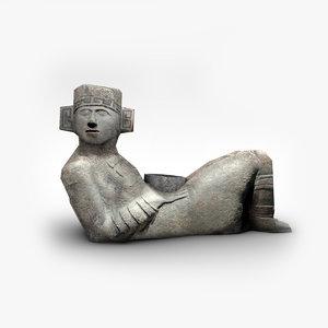 ancient stone statue 3D