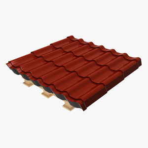 metal roofing pack 3D model