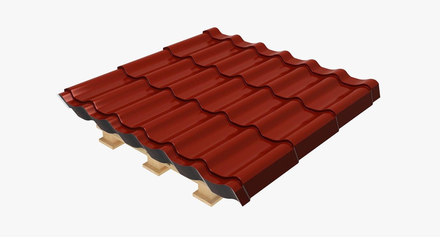 metal roofing pack 3D model