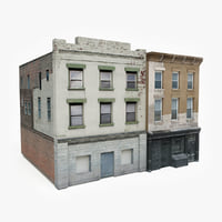 3D ready apartment building block model