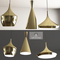 beat light brass designed 3D model