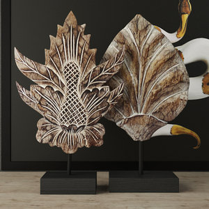 carved decoration albesia wood 3D