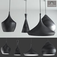 beat light designed tom dixon 3D model