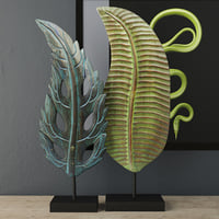 3D leaf decoration albesia wood model