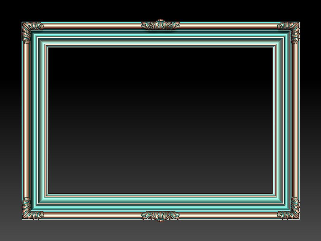 3D frame carved elements cnc
