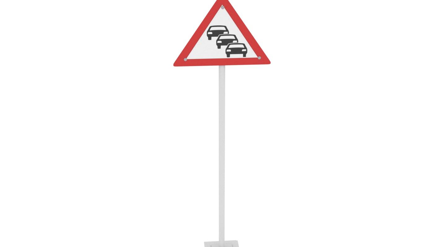 traffic signal 3 lanes 3D