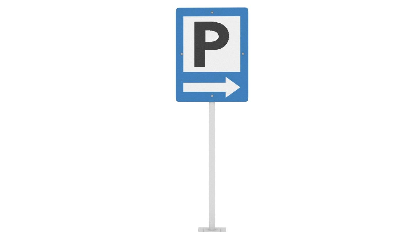 3D model signal parking