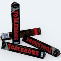 toblerone dark chocolate bar 3D model