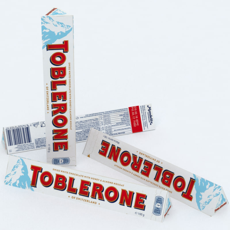 toblerone white chocolate bar 3D model