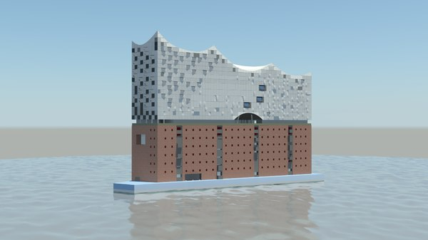 3D model hamburg elbphilharmonie