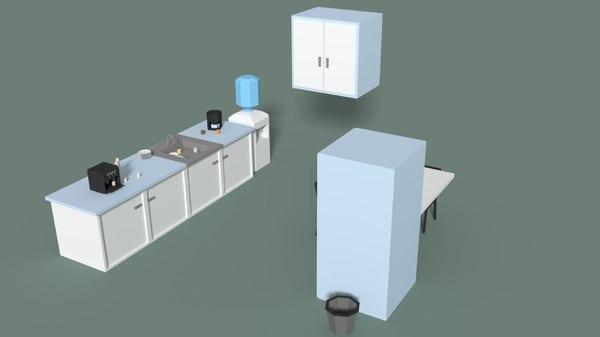 3D kitchen table model