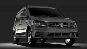 volkswagen caddy panel van 3D model