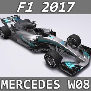 3D 2017 mercedes w08