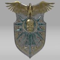 3D fantasy shield