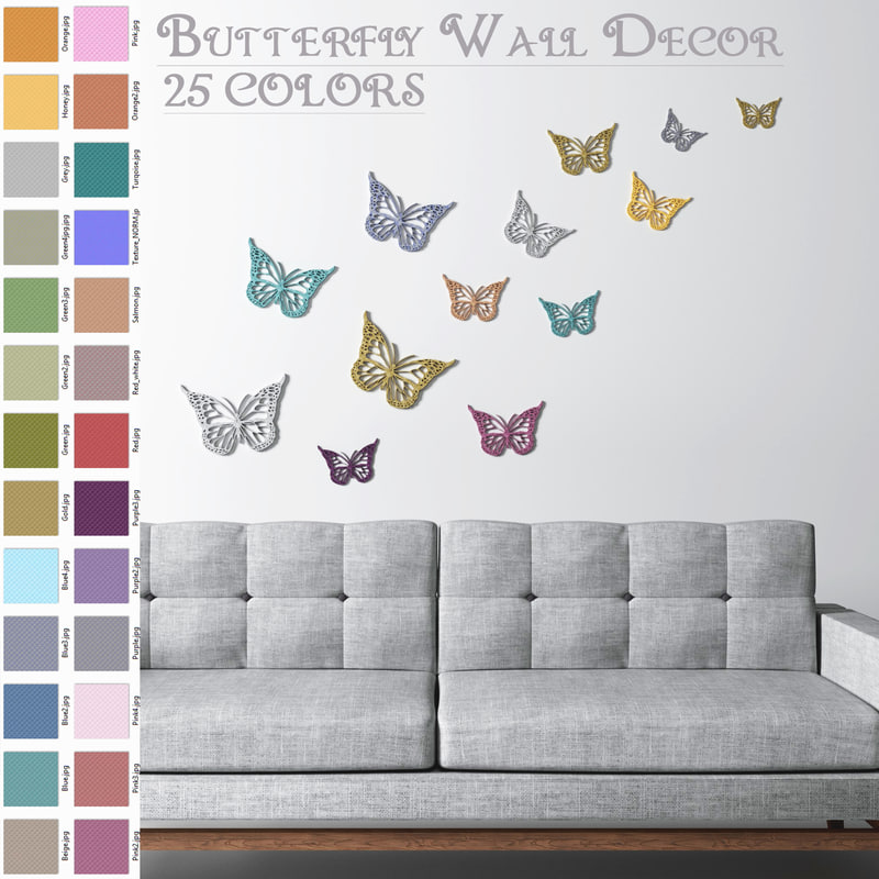 butterfly wall decoration - 3D model