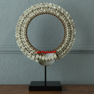decorative tribal necklace zara 3D