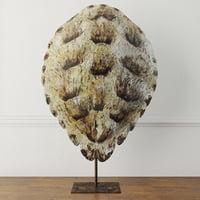faux turtle shell sculpture 3D