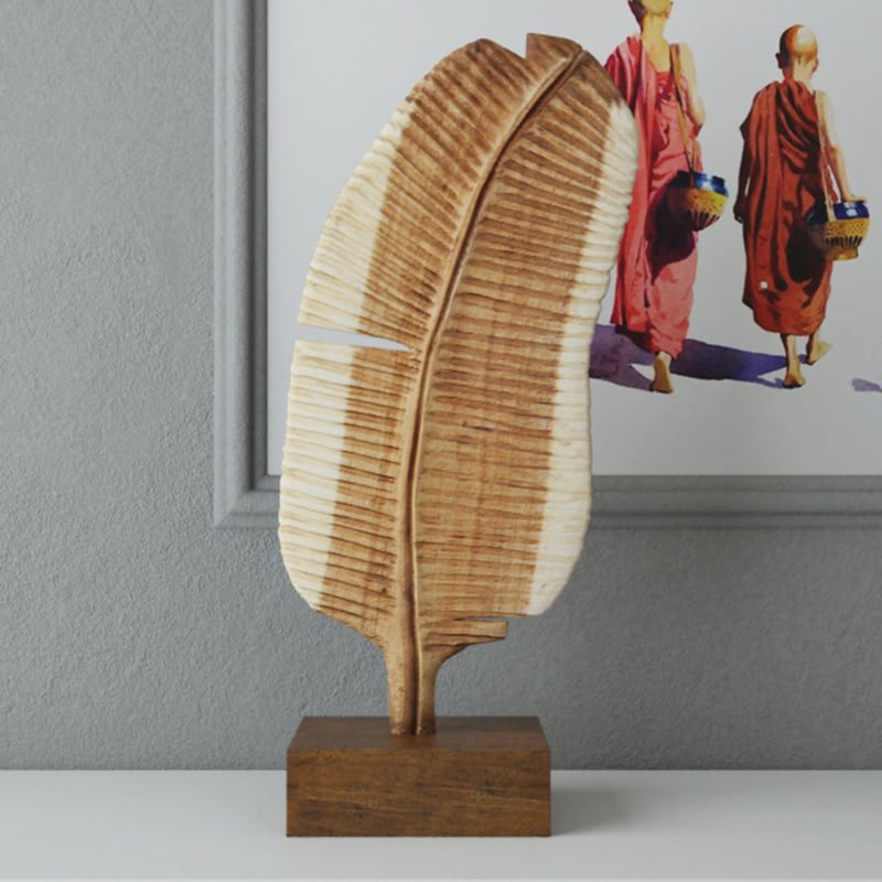 3D leaf-shaped decorative piece zara model