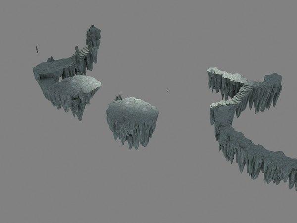 3D hill steep cliff