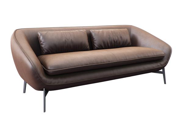 3D flow sofa model
