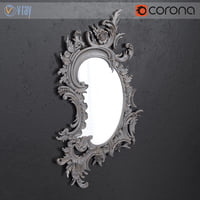 Classical carved mirror