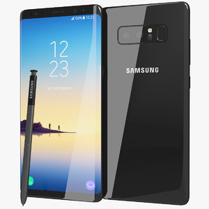 realistic samsung galaxy note8 3D model