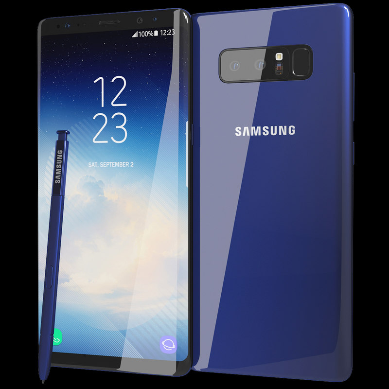 3D realistic samsung galaxy note8