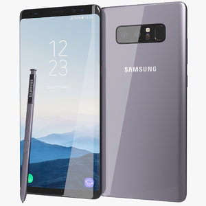 realistic samsung galaxy note8 3D