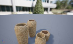 3D model pottery jars