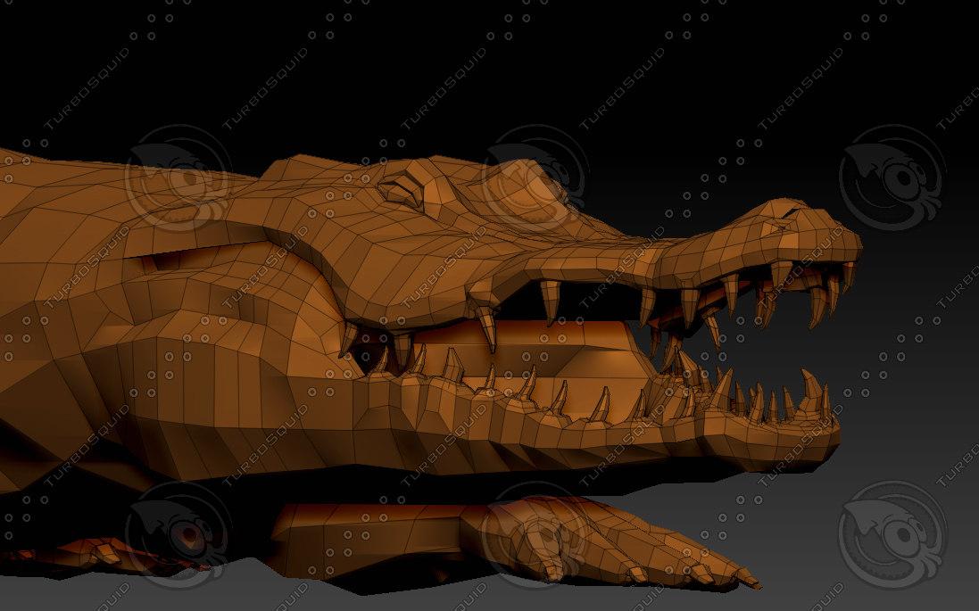 3D model alligator animation