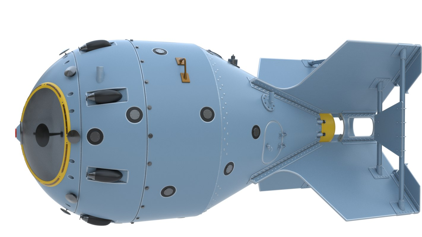 Rds-1 nuclear bomb 3D model - ...