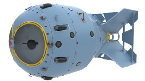 rds-1 nuclear bomb 3D model