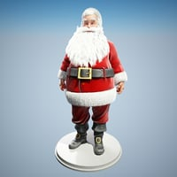 3D santa claus rigged