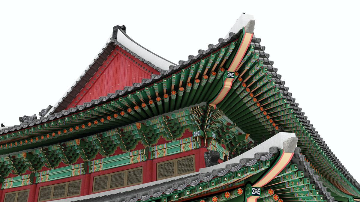 palace injeongjeon 3D model