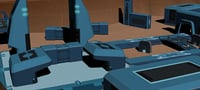 Low Poly Sci fi Game Environment