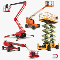3D telescopic boom lifts model