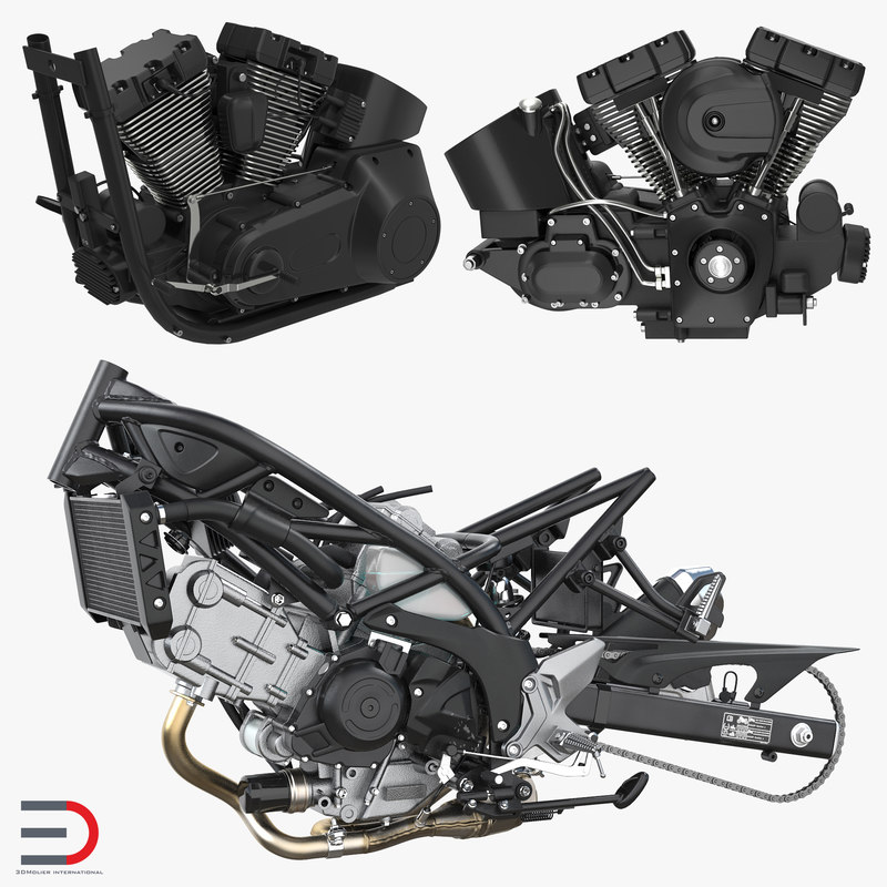 motorcycle engines 3D model