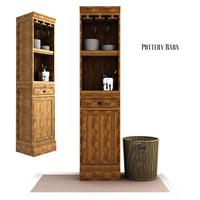 3D modular bar cabinet tower