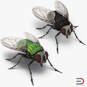 flies fur 3D