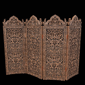 3D carved screen