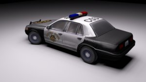 police hand 3D model
