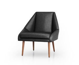 3D model chair elm leather