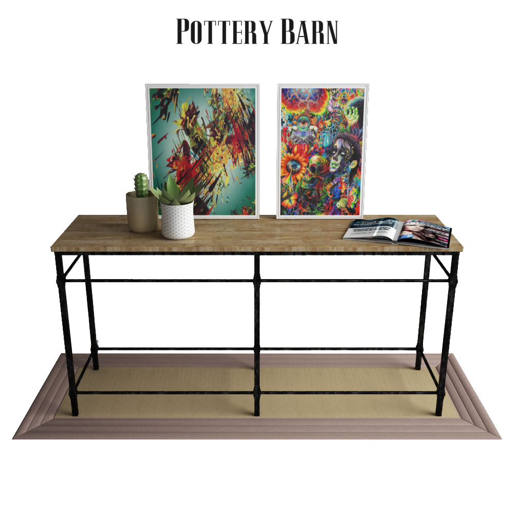 Astounding Pottery Barn Parquet Reclaimed Wood Console Table Ibusinesslaw Wood Chair Design Ideas Ibusinesslaworg
