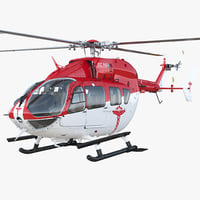 Eurocopter EC145 Medical Helicopter Rigged