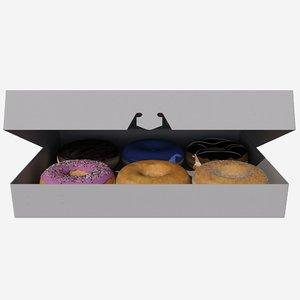 3D box donuts model