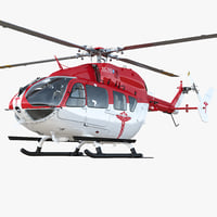 eurocopter ec145 medical helicopter interior 3D model