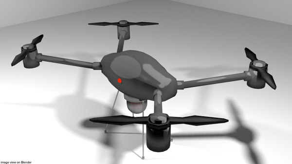 3D copter drone r model