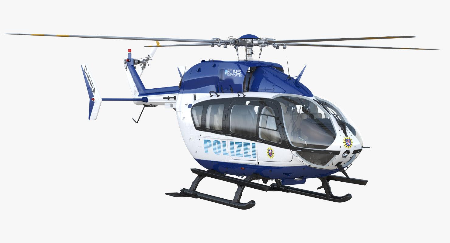 3D model eurocopter ec145 german police