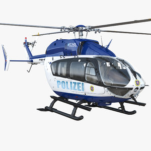 3D model eurocopter ec145 german police