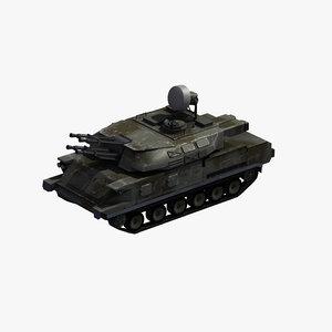 3D zsu-23-4 shilka